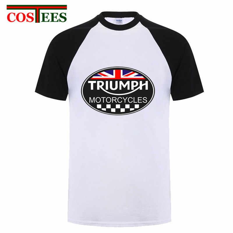 ac547586 ... GREAT BRITAIN TRIUMPH MOTORCYCLE T shirt Men UK Flag Design Triumph  Logo T-shirt Cool ...