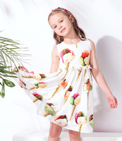 W.L.Monsoon Girls Ice Cream Dress Vestidos 2017 Summer Brand Princess Costumes Kids Dresses for Girls Clothes Robe Fille Enfant