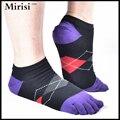 Summer hombres calcetines de algodón cinco dedos calcetines calcetines del dedo del pie ocasional transpirable calcetines calcetines de tobillo 39-43