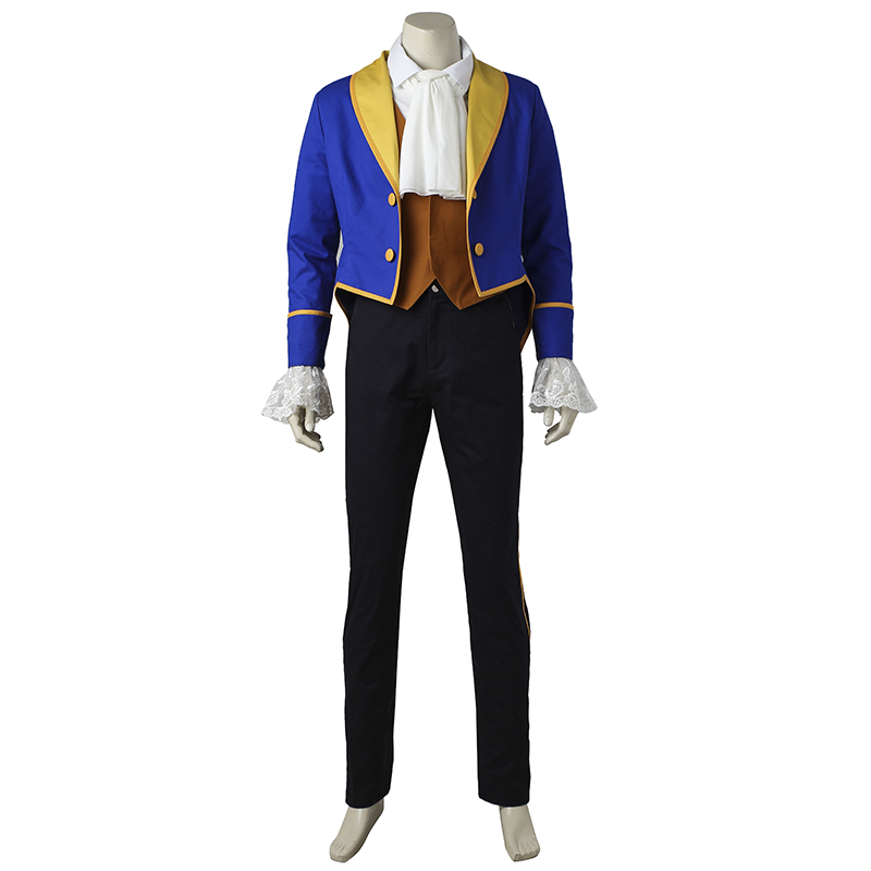 Beauty And The Beast Cosplay Costume Prince Adam Cosplay Anime Outfit Halloween Men Coat Gentleman Adult Clothes Custom Made
