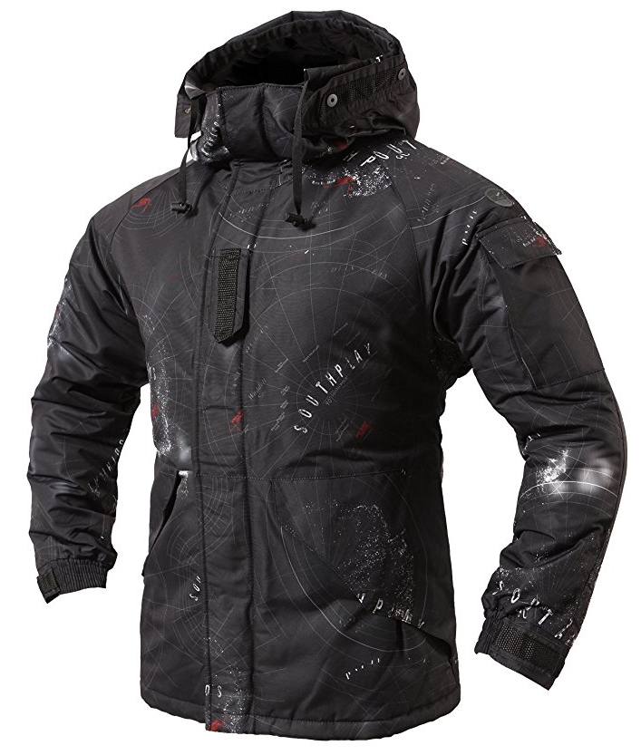 "New Premium ""SouthPlay"" Winter Season Waterproof 10,000mm Ski & Snowboard South Black Camoflage Warming Jackets"