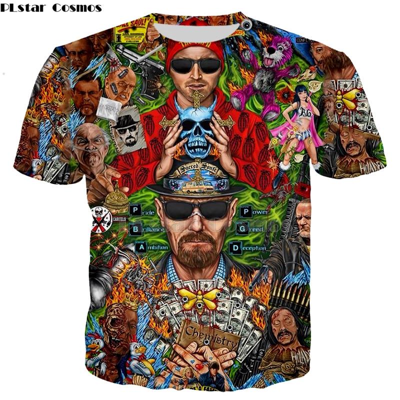 Camiseta a la moda de Breaking Bad para hombres, camiseta de LOS POLLOS Hermanos, camiseta de manga corta, gran oferta Top-5