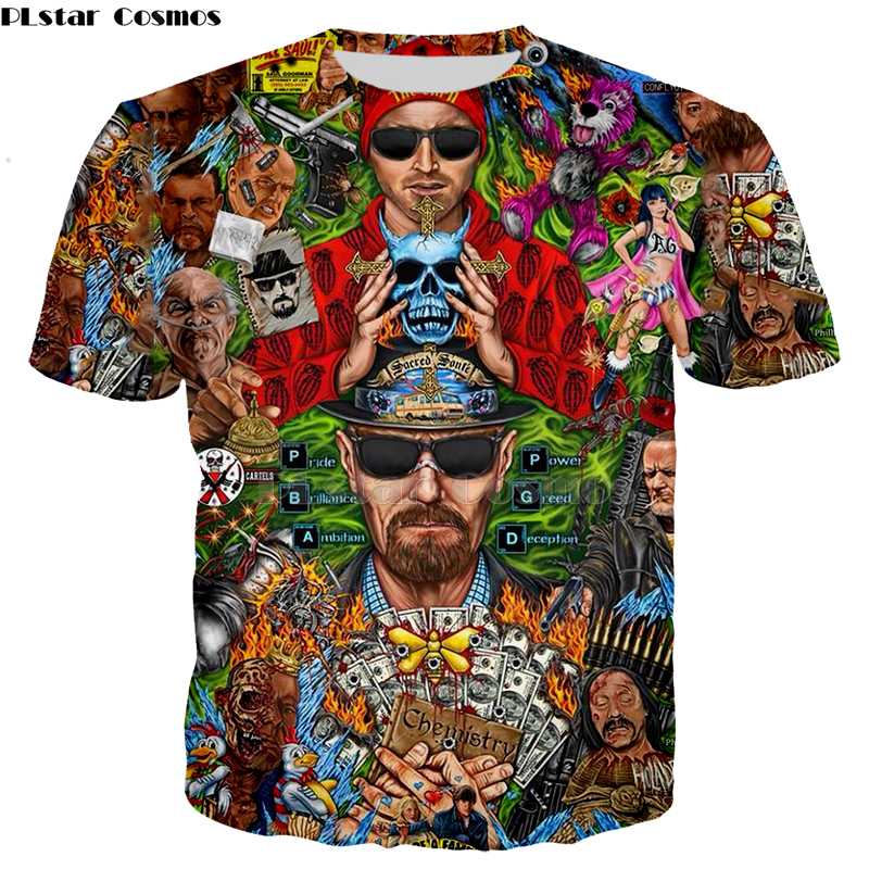 Men's Clothing Fashion Breaking Bad T Shirt LOS POLLOS Hermanos Hoodies Chicken Brothers Tshirt Short Sleeve Tee Hot Sale Top-5