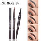 SR MAKE UP WATERPROOF makeup eyebrow liner paint pencil with brush long-lasting black brown permanent tint cosmetic art LK098