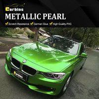 CARBINS Green Car Sticker Custom Wraps Vinyl Metallic Candy Color Factory Sales Price Free shipping