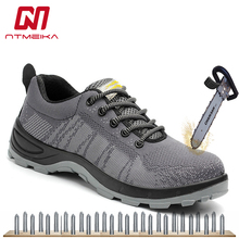 Fashion Mens Safety Work Shoes Steel Toe Cap Size 38-45 Work Boots Puncture-proof Safety Boots Protective Casual Sneakers Men