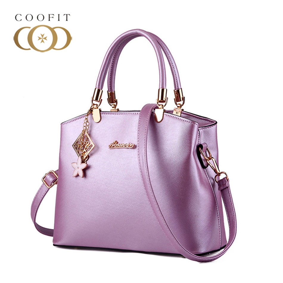 Coofit Fashionable Leisure Womens Handbag Casual Design PU Leather Shoulder Bag Crossbody Bags Satchel Tote Bag For Office Lady цена