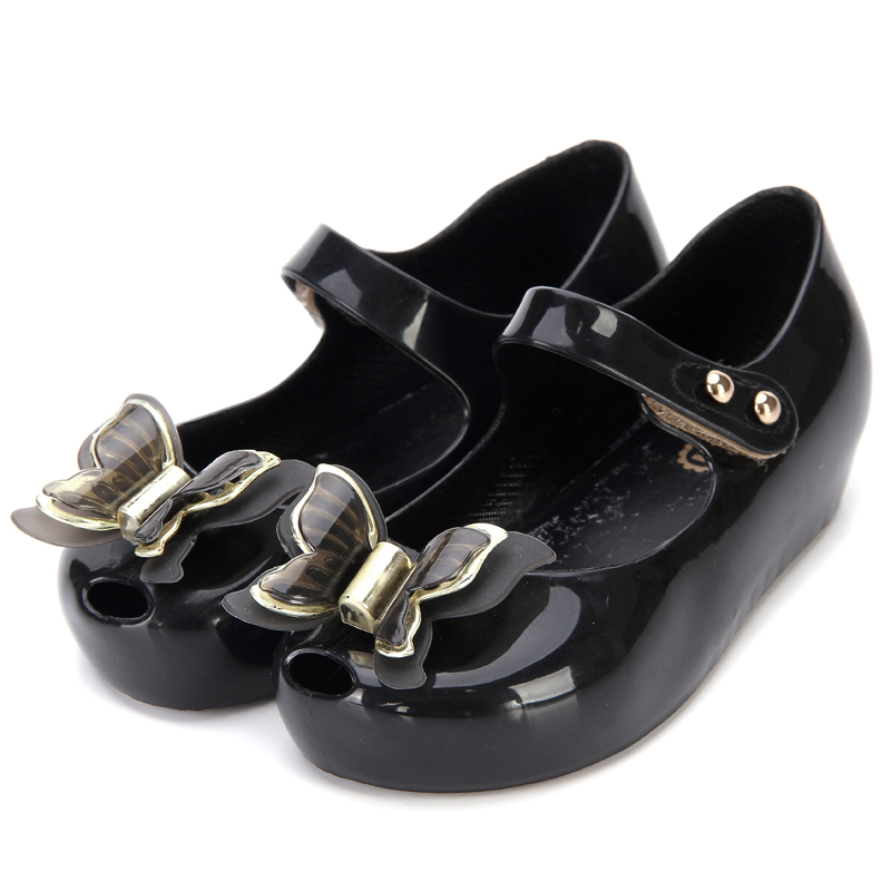 Melissa 3D Butterfly Kids Shoes Saturn Modle Children Jelly Sandals Soft Bottom Princess Girl 2018 New Summer