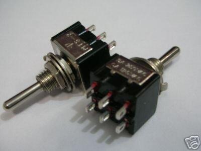 PKG100 мини DPDT Гитары на тумблер красный