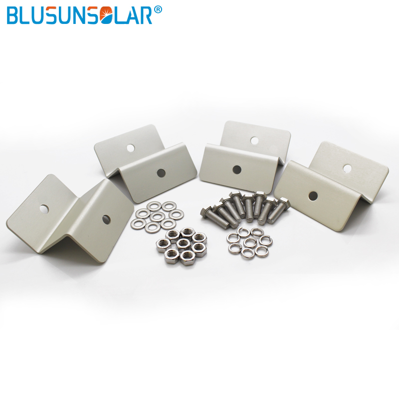Image 3 - 50 Set/lot Hot Selling Z Type Solar Bracket 100% Aluminum Panel Roof Mounting Bracket ZJ0216 Solarsolar bracketpanel mounting bracketsaluminum z brackets -