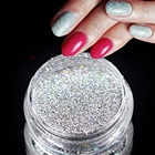 3g Jar Holographic Laser Silver Color Shining Nail Glitter Dust Powder for Nail Art Decoration Glitter Craft Manicure Tool LAL03