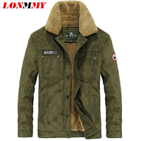 LONMMY Winter Jacket Men Military Style Jaquetas Warm Velvet Bomber Jacket Men Coat Mens Jackets And