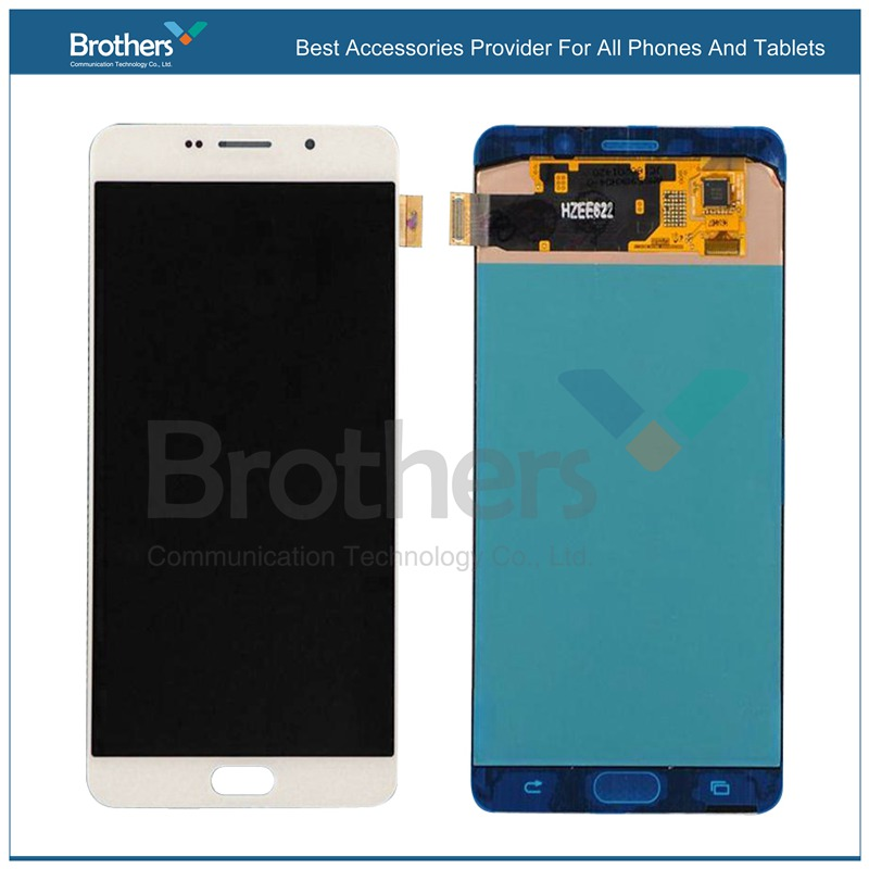 100% Tested White Black Wholesale LCD Screen Touch Digitizer Assembly For Samsung Galaxy A9 A9000 Free Ship With Tracking No. кухонная мойка omoikiri kata 55 2 u gr 540х420 leningrad grey 4993390