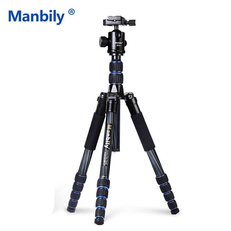 Manbily CZ302 Carbon Fibre Tripod with KF 0 Ball Head Professional Portable Reflexed Tripod Monopod Travel