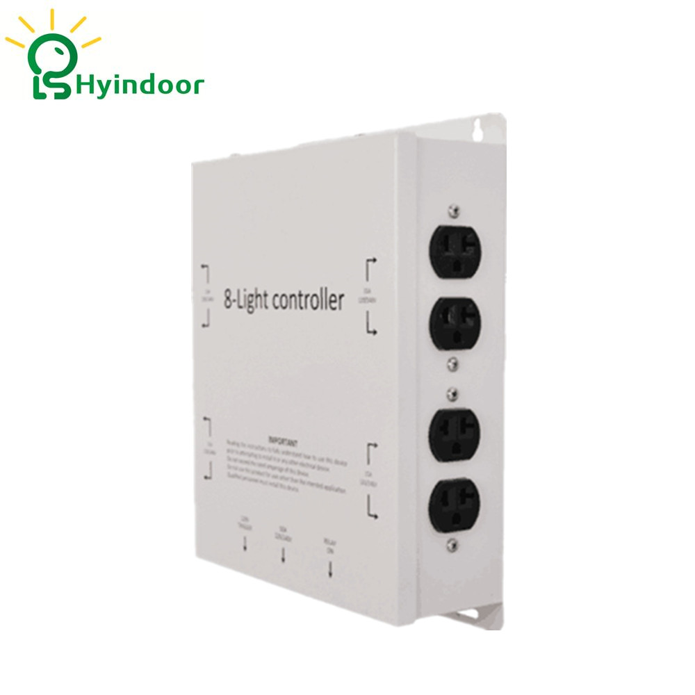 120V USA Standard 8 Outlets Electrical Sockets Grow Lights Controller Contactor