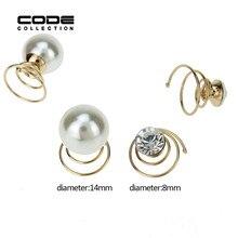 6Pcs/set Bridal Hair Pins Pearl Wedding Rhinestone Accessories Set Twists Coils Swirl Spiral Hairpin FJewelry