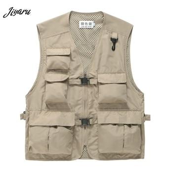 Men Multi-Pocket Waistcoats Men's ...