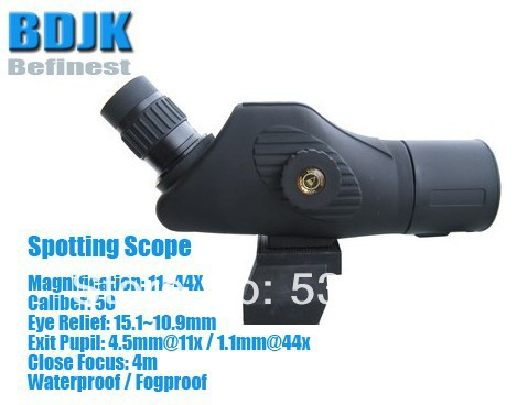 Waterproof / Fog Proof Spotting Scope with 11X -44X Magnification and 50 Objective цена
