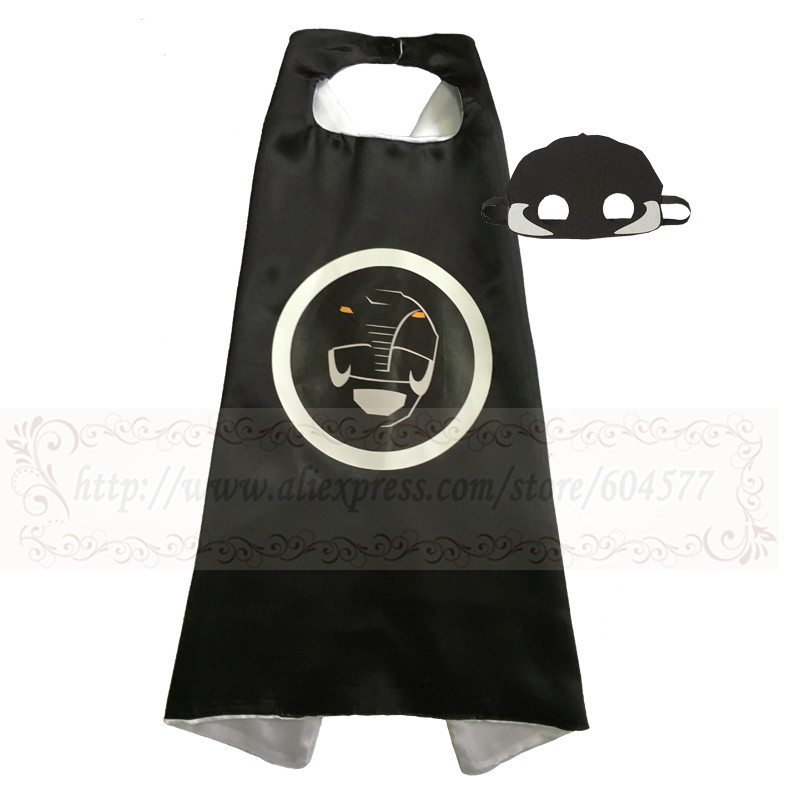 Power Ranger Halloween Cosplay Gifts Dress Up Superhero Cape With Mask For Kids Girls And Boys Birthday Party