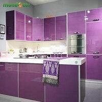 Moderne vinyl diy decoratieve film pvc zelfklevende meubels renovatie stickers keukenkast waterdicht behang