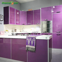 Modern Vinyl DIY Decorative Film PVC Self Adhesive Wall Paper Furniture Renovation Stickers Kitchen Cabinet Waterproof