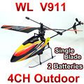 2.4 GHZ 4 canais Único Blade, wltoys WL BRINQUEDOS v911 R/C helicóptero com giroscópio brinquedos de controle remoto NSWB