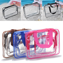Transparent PVC Bags Travel Organizer Clear Makeup Bag Beautician Cosmetic Bag Beauty Case Toiletry Bag Make Up Pouch Wash Bags 3 pcs set travel cosmetic bag transparent pvc women zipper clear makeup beauty case make up organizer large capacity wash bag