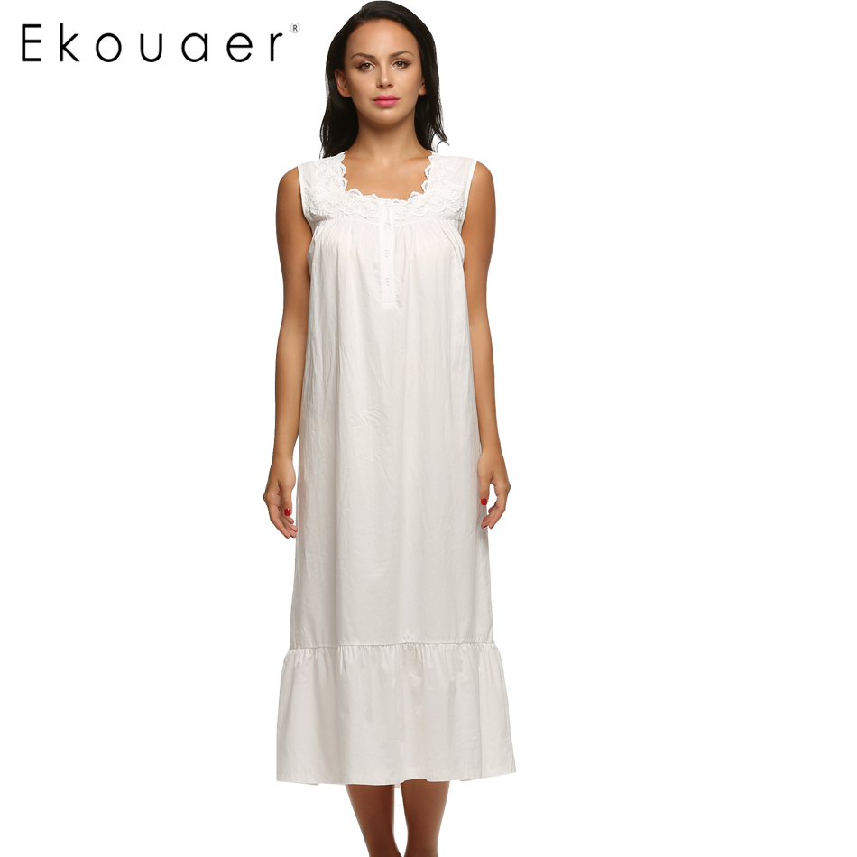 Online Buy Wholesale Sleeveless Cotton Nightgown From