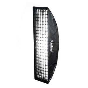 """Image 5 - Godox 14 """"× 63"""" 35 × 160 センチメートルソフトボックス Bowens マウントストリップ蜂の巣ハニカムグリッド用写真 Strobe スタジオフラッシュライト"""