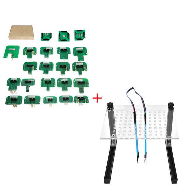 KTAG KESS KTM Dimsport BDM Probe Adapters Full Set with LED BDM Frame with Mesh 4 Probe Pen for FGTECH BDM100 KESS KTAG K-TAG EC best quality led bdm frame with 4 probe pens full set 22pcs bdm adapters fit for ktag kess fgtech bdm100 ecu chip proframmer
