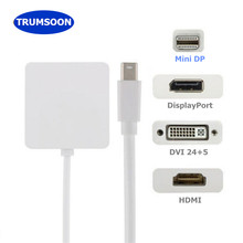 Trumshort Thunderbolt 2 Mini DP إلى HDMI DVI DP محول 1080P Mini DP إلى HDMI محول كابل لماك ماك بوك TV العارض(China)