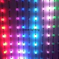 100X WS2801 średnica 50mm 360 stopni sen kolor 3D efekty led ball pikseli punktowe źródło światła DC12V wejście ekspresowe darmowa wysyłka