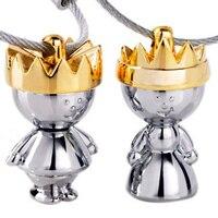 زوج مصمم ماركة سلاسل المفاتيح حامل مفتاح الجدة هدية الذهب وخواتم البنود مبتكرة للزوجين حلية مفتاح سلسلة ge