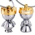 Un Par de Diseño de Marca Cadenas de Oro Anillos Llavero Llavero Regalo de La Novedad Artículos innovadores para pareja Llavero Abalorio GE