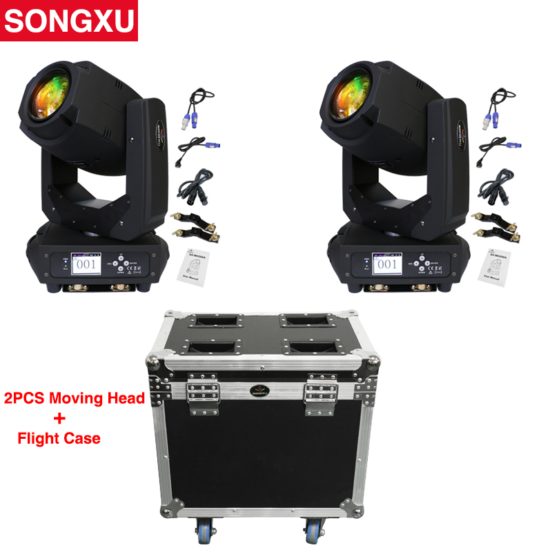 LED 200w Moving Head Beam Spot Wash Stage Light LED Lyre Road case package Party Light