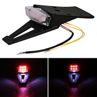 Motorcycle Bike Rear Fender LED Taillight Stop Brake Red Light Rear Shield Deflector Universal Motorbike Accessories