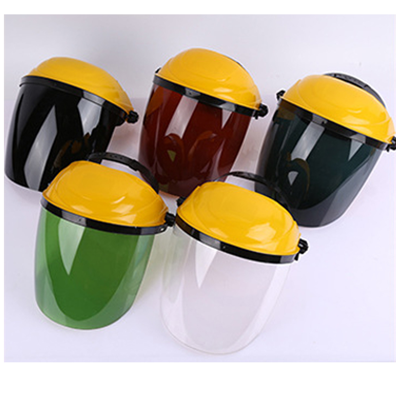 New 5 pieces/lot Protective Face Masks Plexiglass&PC Anti-shock Anti-splash Mask For Working Welding Cooking Safety Equipment security labour protective mask equipment bicyle masks against the warm full face mask pirates of the caribbean dust mask fc