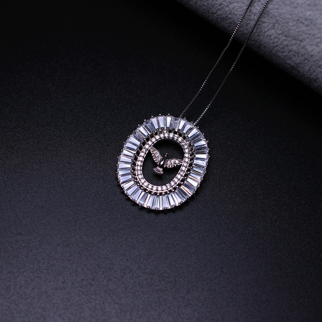 Trapezoid cubic zirconia pendant necklace holy spirit pendant trapezoid cubic zirconia pendant necklace holy spirit pendant necklaces jewelry bijoux for women gift aloadofball Images