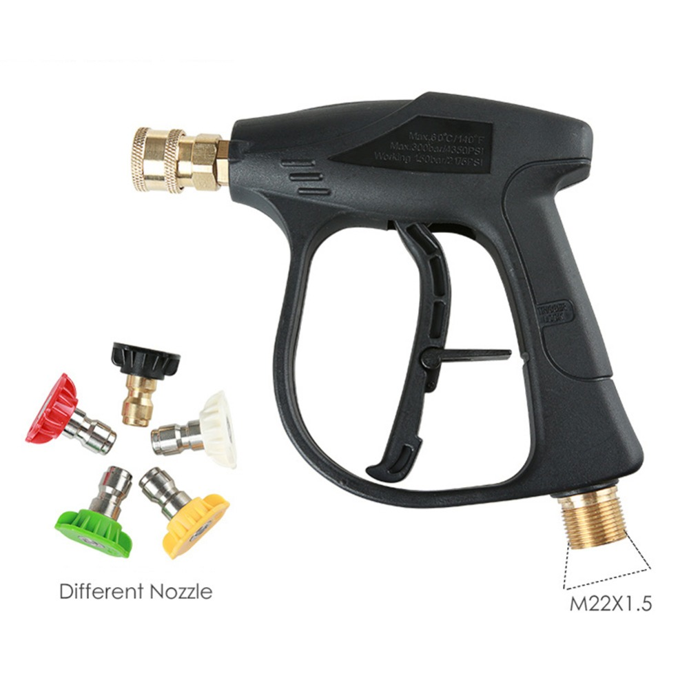 Car High Pressure Power Water Guns Washer Water Jet Garden Lawn Hose With 5 Quick Connect Water Jet Nozzles Spray Sprinkler