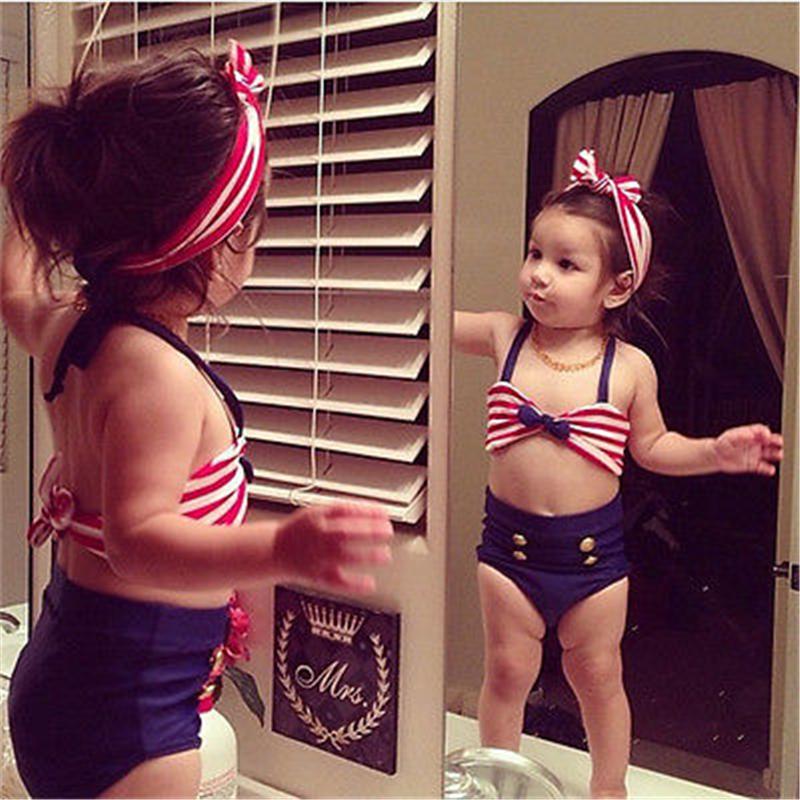 2017 Детский костюм бикини для маленьких девочек, морской купальный костюм, одежда для купания, купальный костюм, летняя пляжная одежда для де... 18