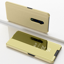 Зеркальный флип умный чехол для OPPO RENO 6,6 Прозрачный чехол для OPPO R9 Plus Pro R9S Plus R17 Pro R11S Plus R15 роскошный чехол подставка