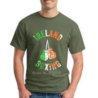 New Summer Style Ireland Boxinger T Shirt Men Irish Flag Cotton Short Sleeve Printed T Shirt