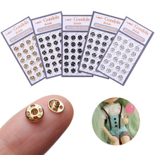US $1.33 38% OFF|24 Pcs Mini Button Buckle for 1/6 Doll DIY Doll Clothes Metal Buckle Invisible Snap Clothing Sewing Doll Clothing Accessories-in Dolls Accessories from Toys & Hobbies on AliExpress - 11.11_Double 11_Singles' Day