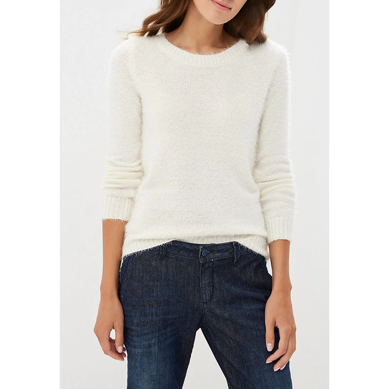 Фото - Sweaters MODIS M182W00353 jumper sweater clothes apparel pullover for female for woman TmallFS beige cable pattern off shoulder pullover sweater