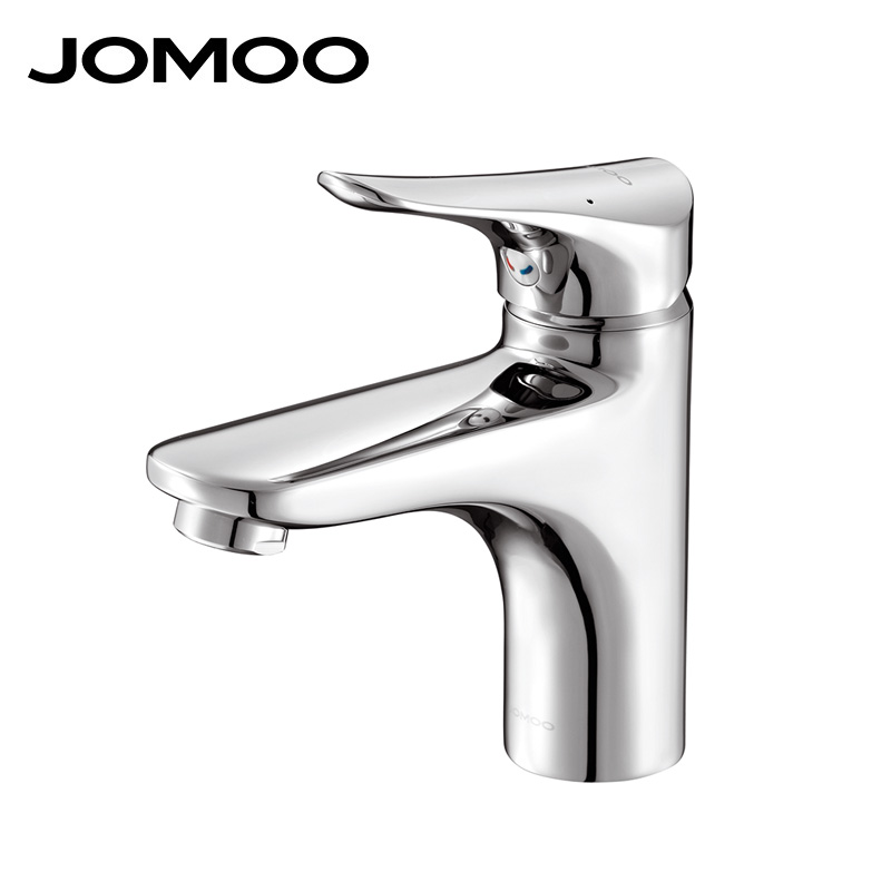 Jomoo Bathroom Basin Faucet Solid Brass Chrome Deck Mounted Bathroom Faucet Mixer Single Handle