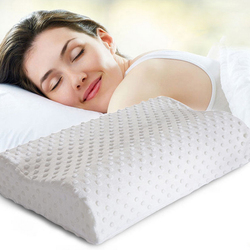 Brand QJH Orthopedic Neck Pillow Fiber Slow Rebound Memory Foam Pillow Cervical Health Care Orthopedic Latex Neck Foam Pillow