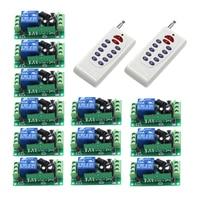 Wireless Z Wave 1CH Gate Garage Door Remote Control Switch DC 12V RF 2pcs 12 Button