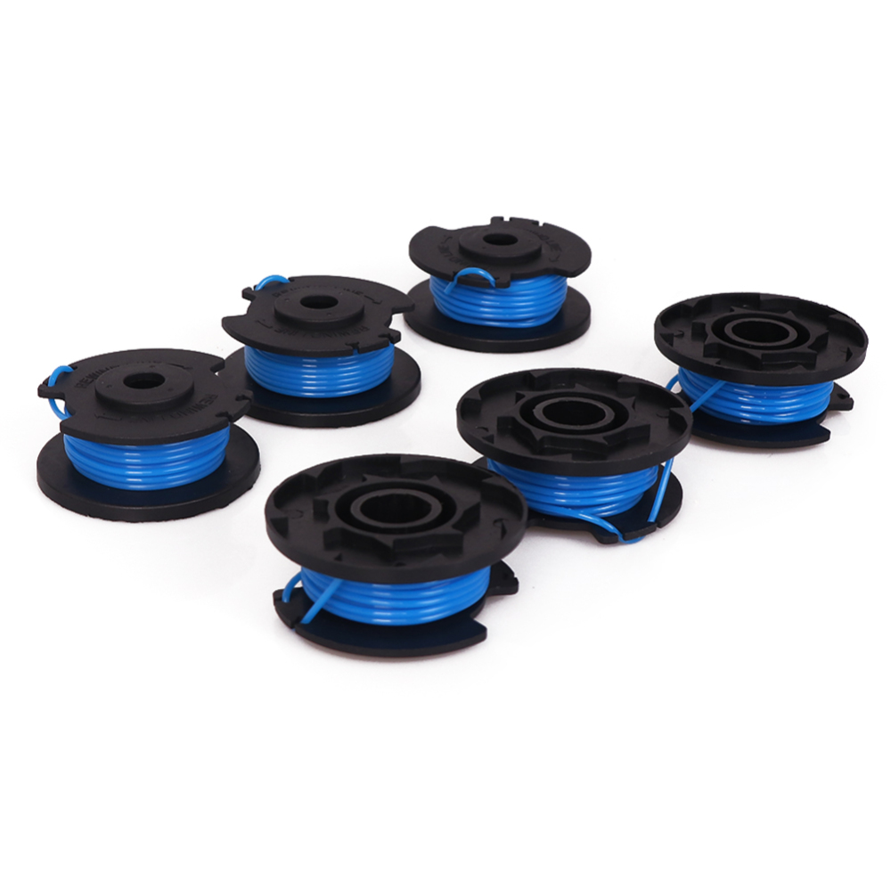 6pcs Replacement Synthetic Trimmer/Edger Spool Line Compatible Model Ryobi One+ 18-Volt 24V 40V Edger Trimmer Replacement Spool