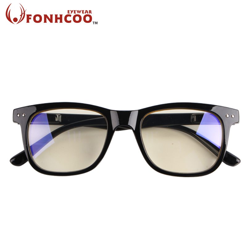 2018 FONHCOO Fashion Anti Blue ray Radiation blue light blocking glasses Square Anti eye fatigue Computer gaming goggles