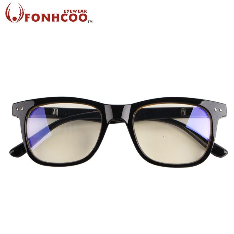 2018 FONHCOO moda Anti rayos azules radiación azul luz bloqueo gafas cuadradas Anti fatiga ocular ordenador gaming gafas